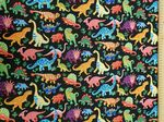 Dancing Dinosaurs - Fabric 100% Cotton  - Price Per Metre
